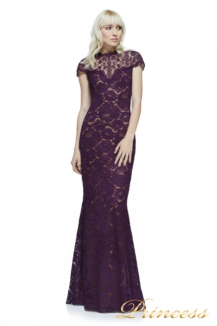 Вечернее платье Tadashi Shoji AYV17797L AUTUMN NUDE фиолетового цвета