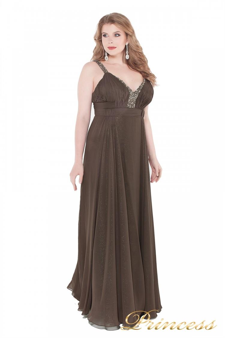 Вечернее платье 276  коричневого цвета