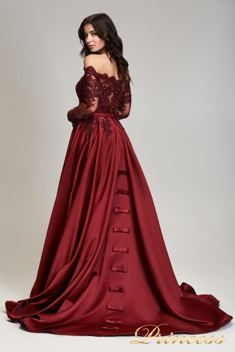 Вечернее платье 29007- marsala . Цвет marsala