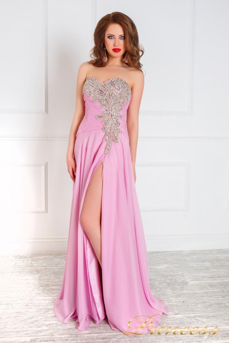 Вечернее платье 309 розового цвета