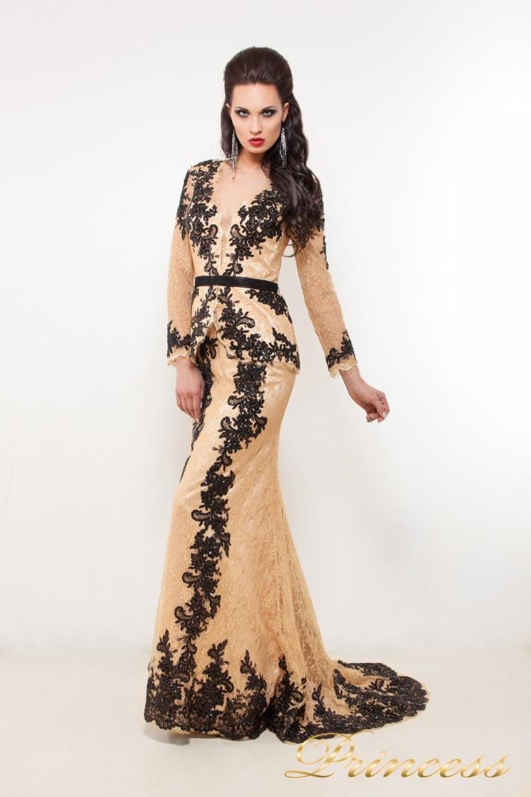 Вечернее платье 32289 чёрного цвета