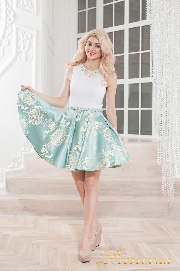 Вечернее платье 359 blue голубого цвета