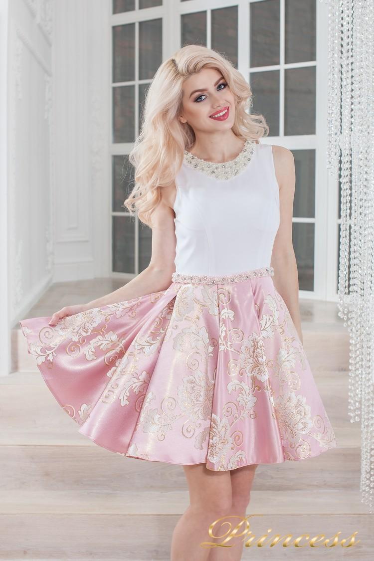 Вечернее платье 359 pink розового цвета