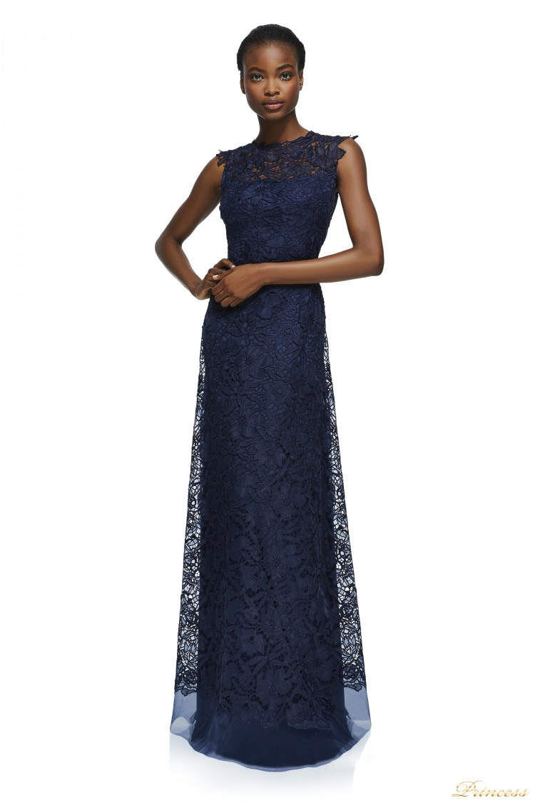 Вечернее платье Tadashi Shoji AXS17390L NAVY синего цвета