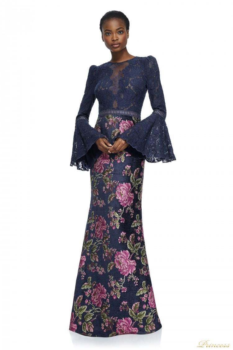 Вечернее платье Tadashi Shoji AYR17735L NAVY  синего цвета
