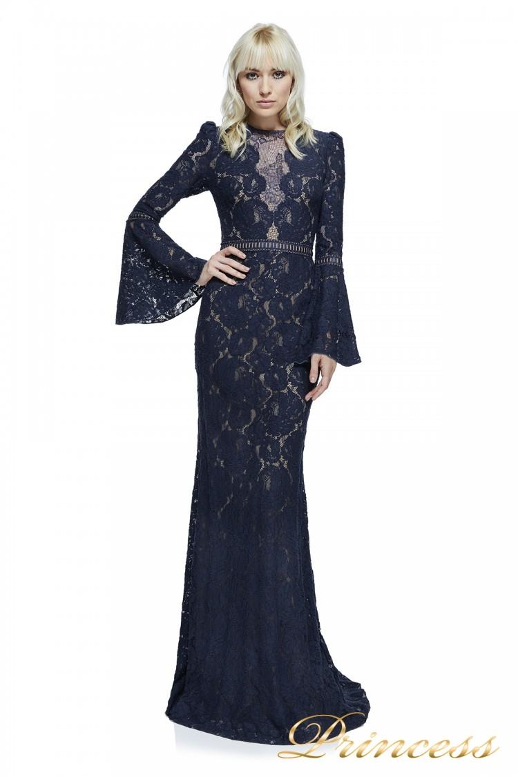 Вечернее платье Tadashi Shoji AYV17735L NV ND синего цвета