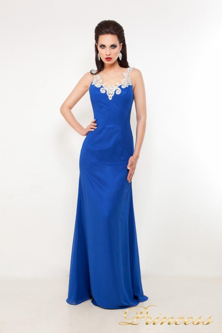 Вечернее платье 42305 цвета электрик