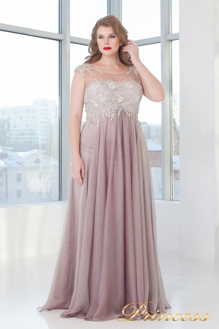 Вечернее платье 4675 PINK розового цвета