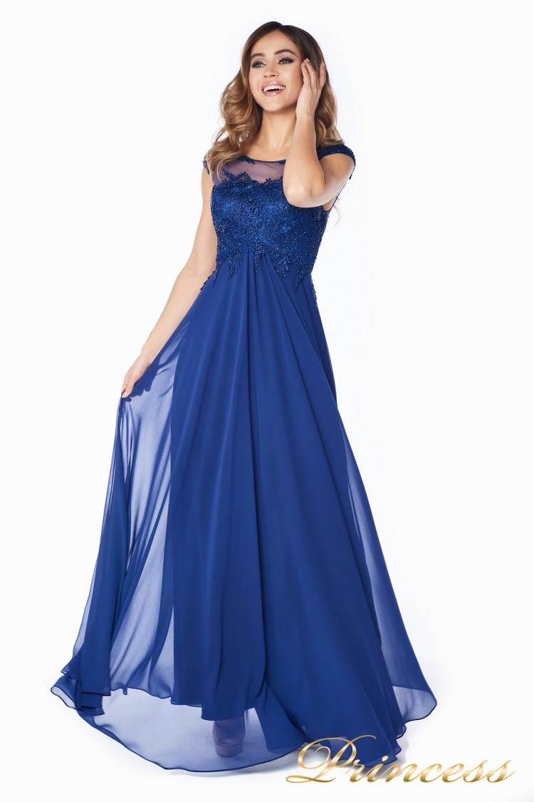 Вечернее платье 4675-1 navy синего цвета