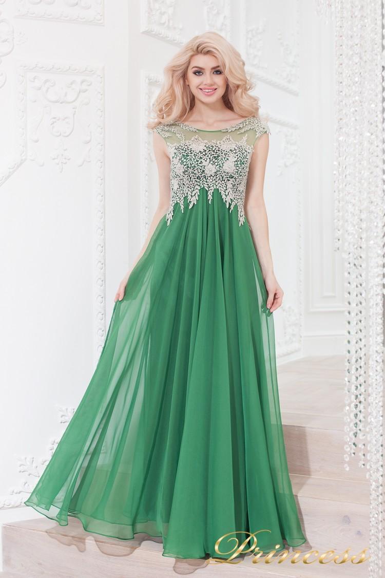 Вечернее платье 4675 green зеленого цвета
