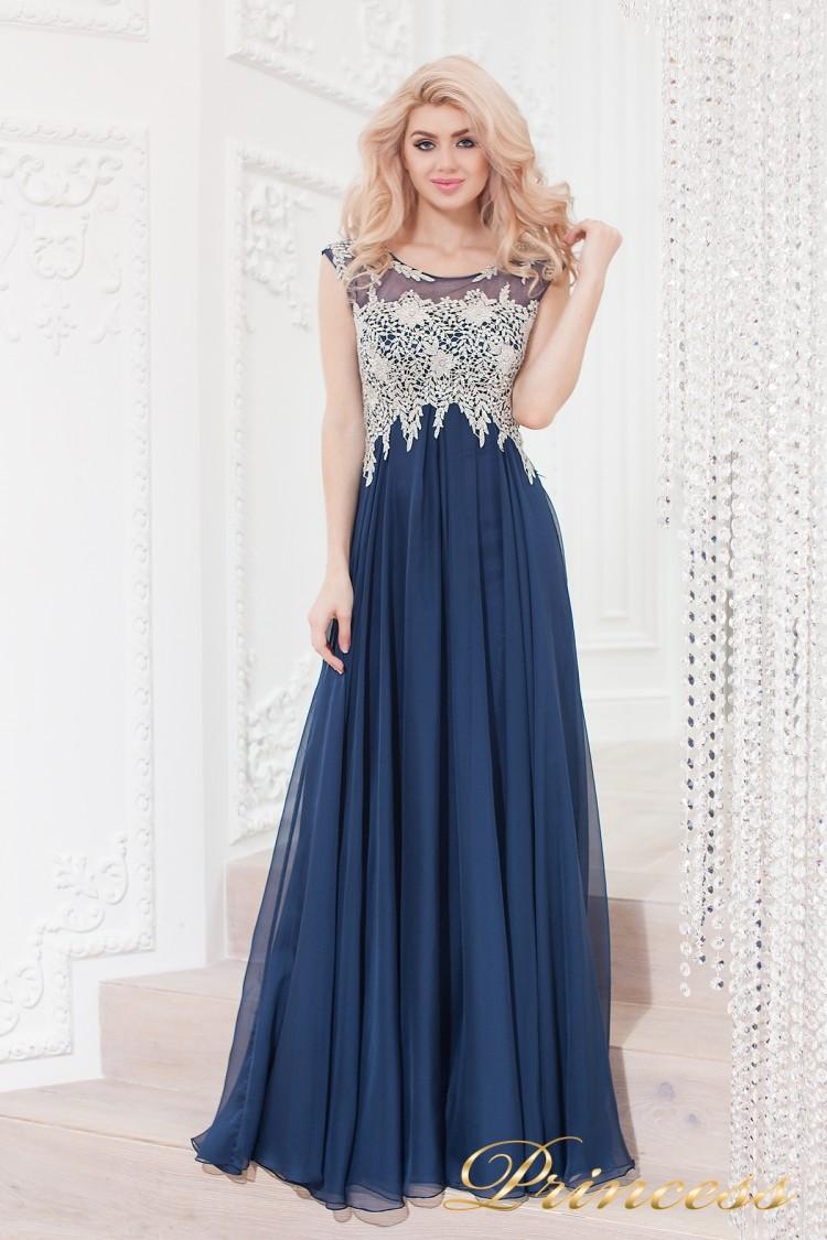 Вечернее платье 4675 navy синего цвета