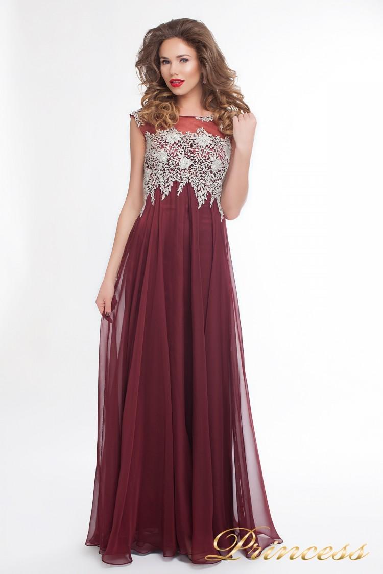 Вечернее платье 4675 marsala small красного цвета