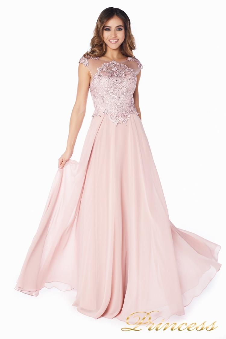 Вечернее платье 51007 rose розового цвета