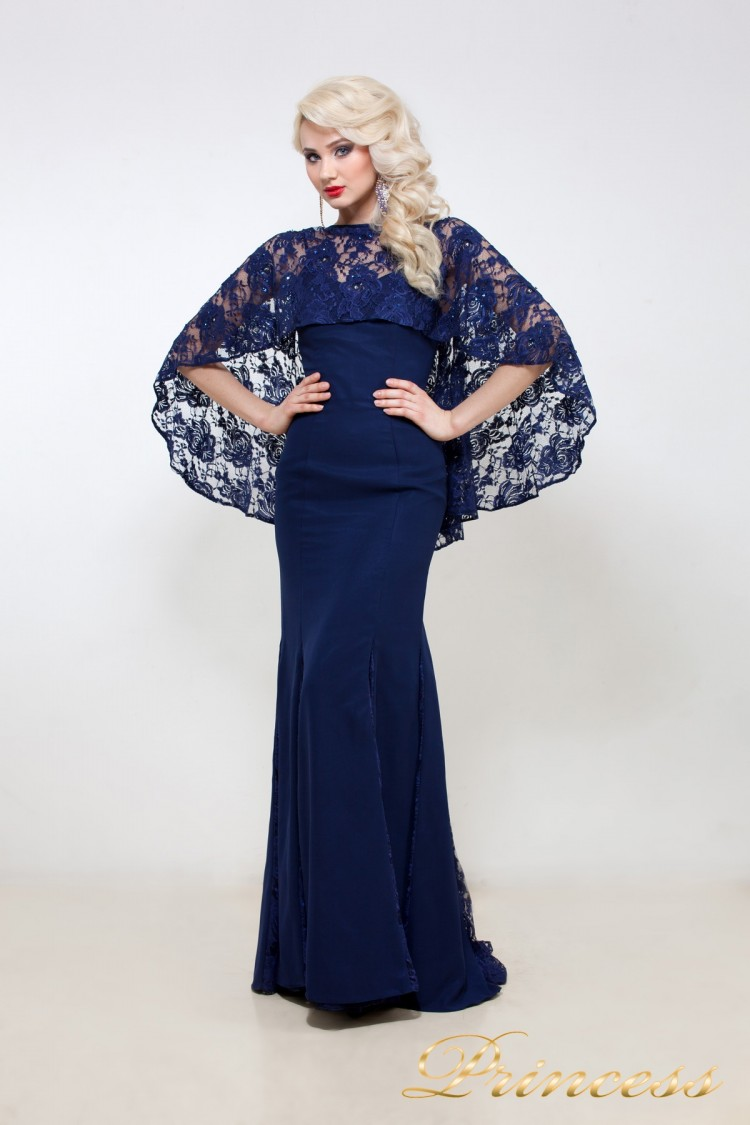 Вечернее платье 5151 синего цвета