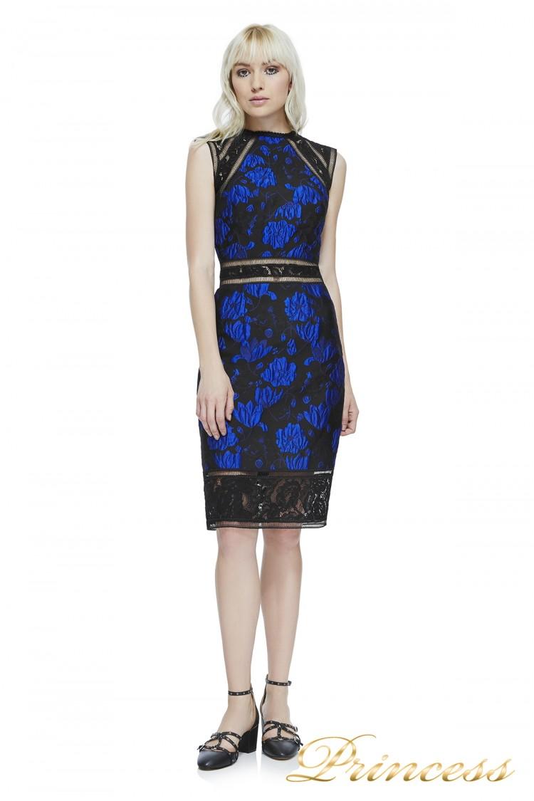 Коктейльное платье AYT17594MX RYLBLK  чёрного цвета