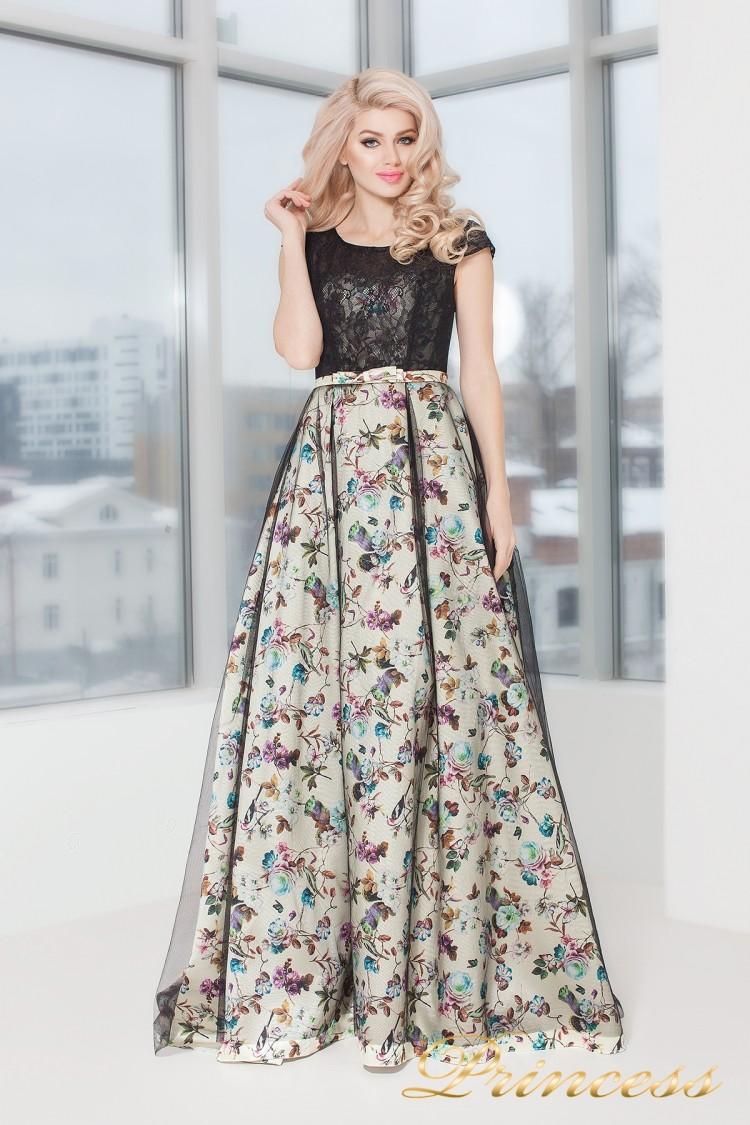 Вечернее платье 5510 чёрного цвета