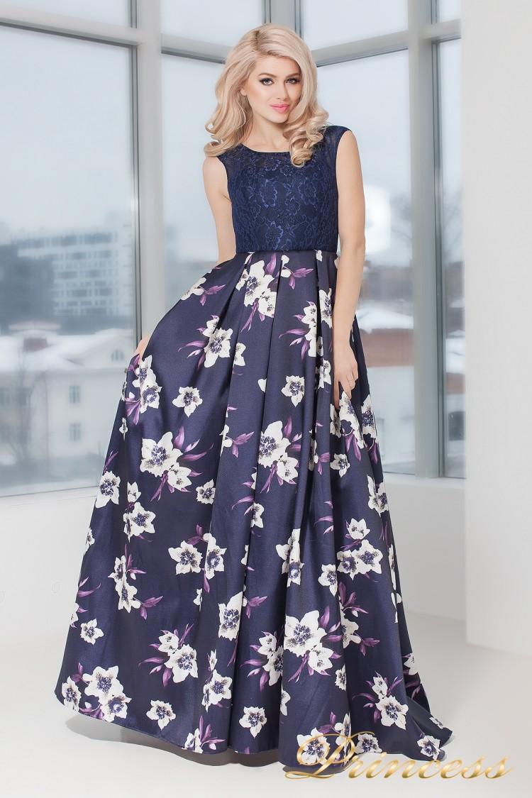 Вечернее платье 5530 фиолетового цвета