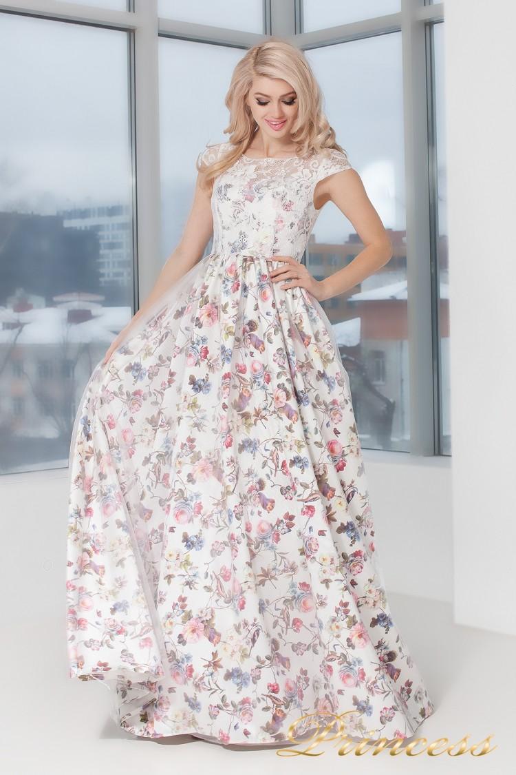 Вечернее платье 5550 цветочного цвета