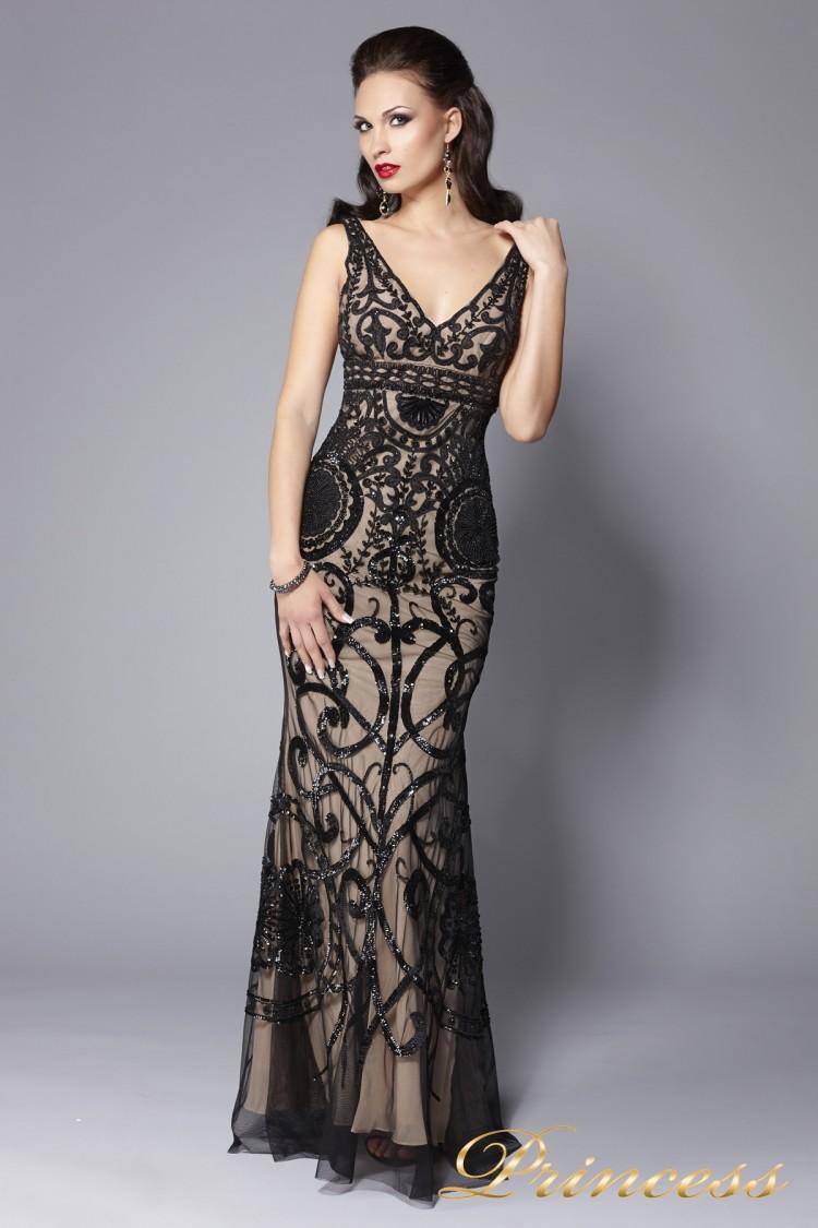 Вечернее платье 5673 чёрного цвета