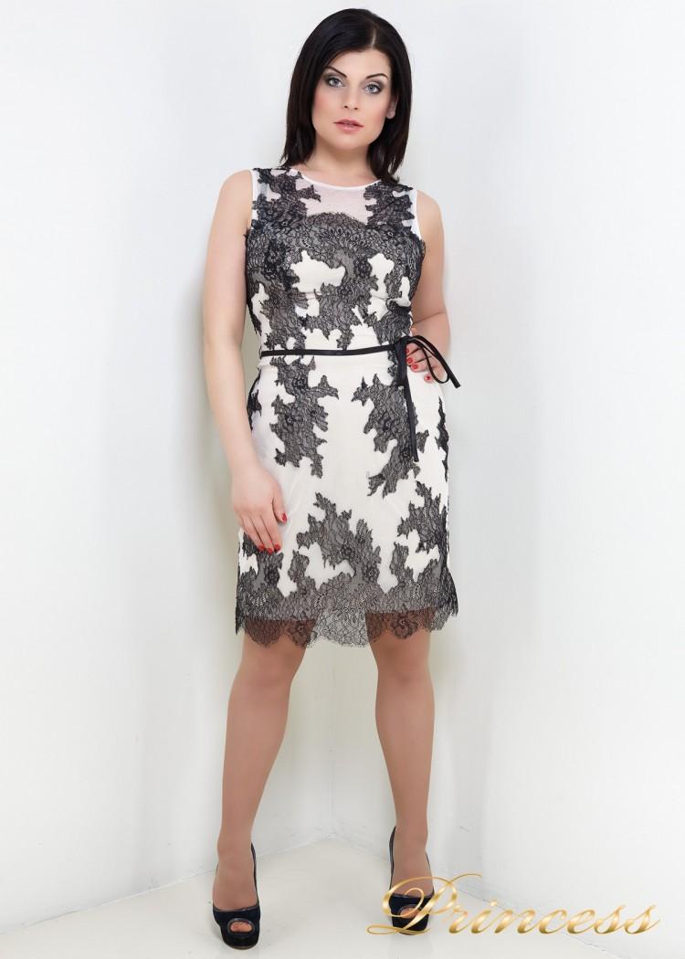 Коктейльное платье 583 белого цвета