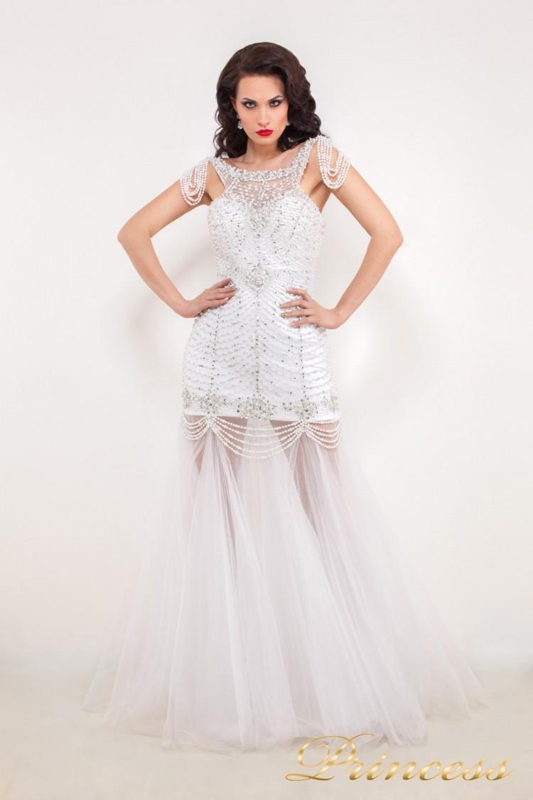 Свадебное платье 614046 белого цвета