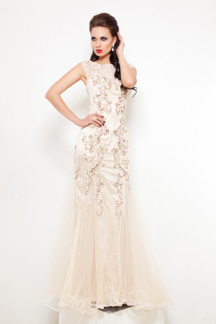 Вечернее платья 6005 цветочного цвета