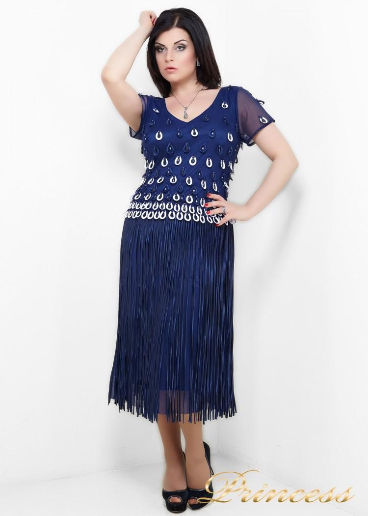 Вечернее платье 6009N синего цвета