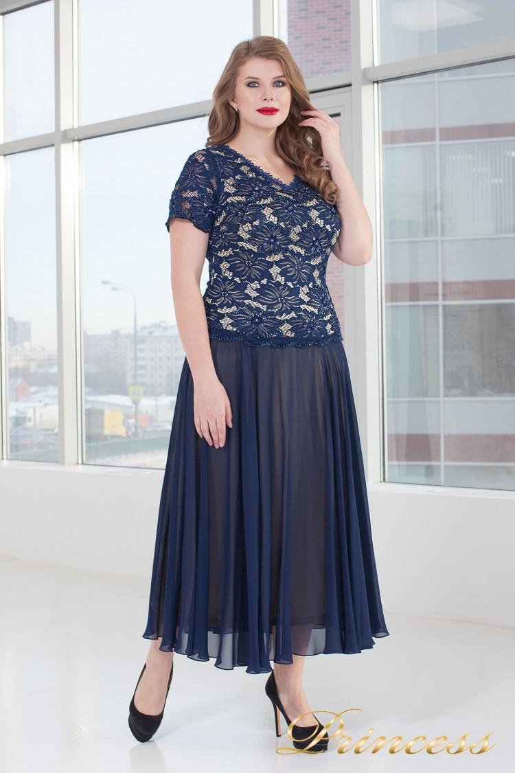 Вечернее платье 6115N синего цвета