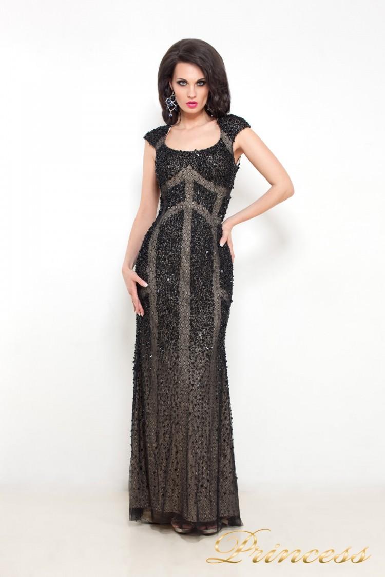 Вечернее платье 614 чёрного цвета