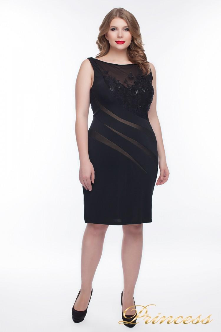 Вечернее платье 6284S_black чёрного цвета