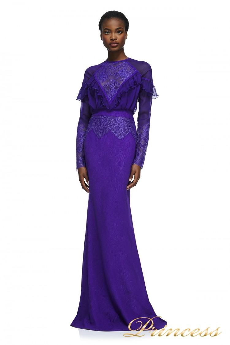Вечернее платье AZU17687L VIOLET NUDE фиолетового цвета