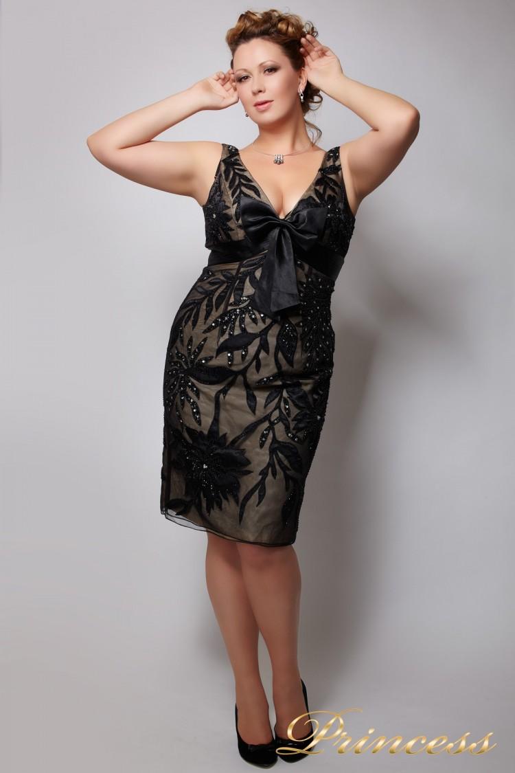 Вечернее платье 661076 чёрного цвета
