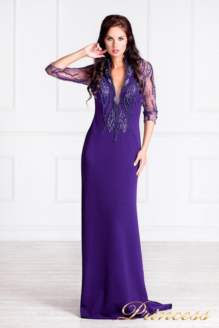Вечернее платье 68070 фиолетового цвета