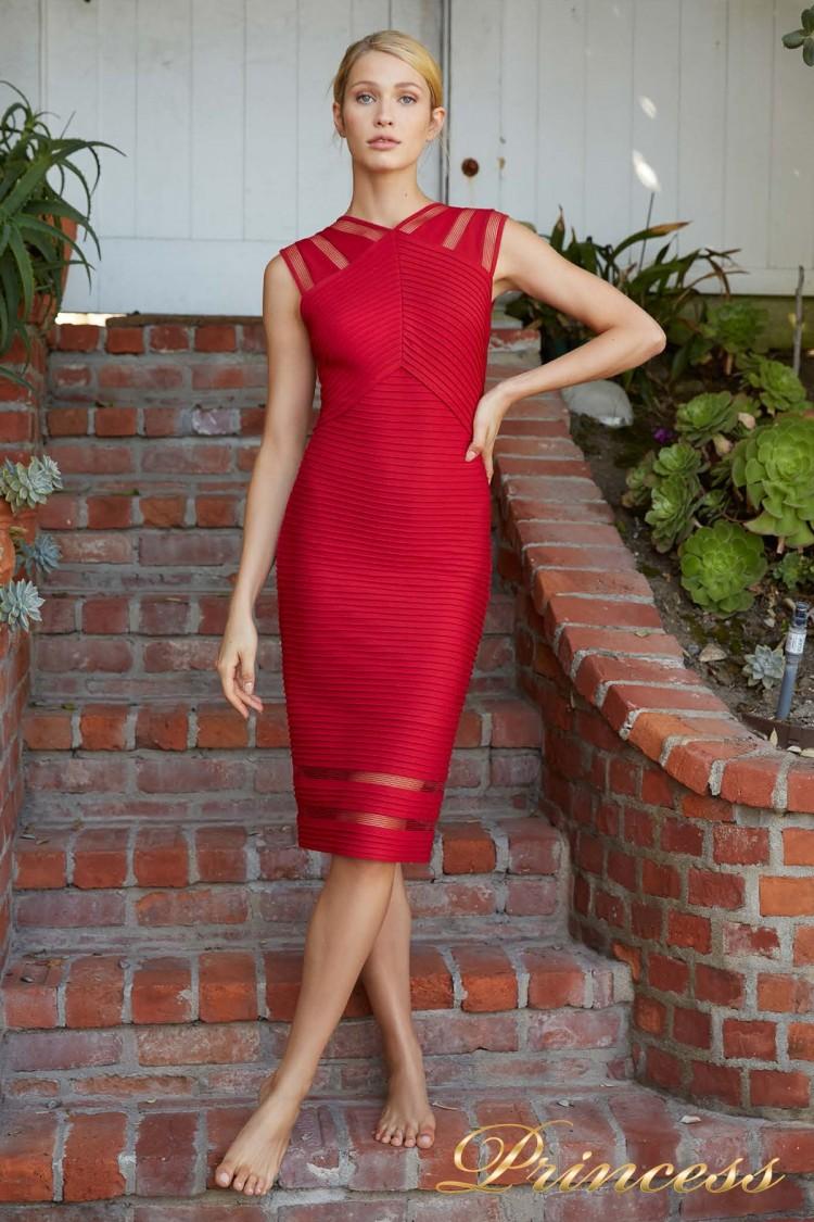 Вечернее платье 6L18105M DEEP RED красного цвета