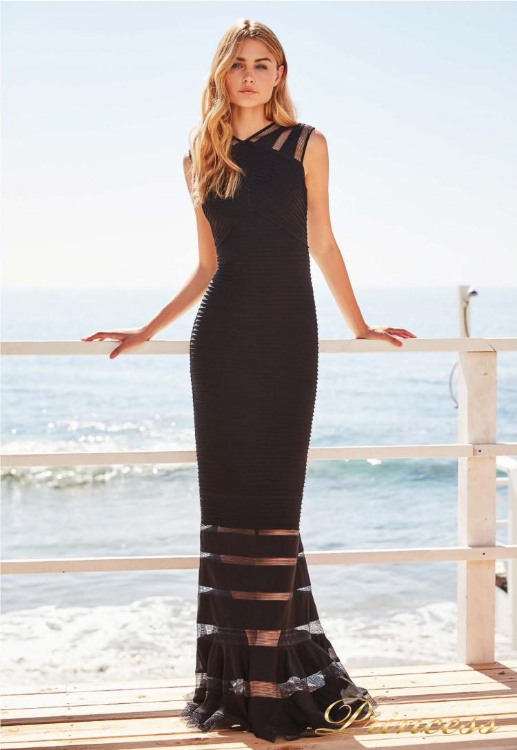 Вечернее платье 6L 18105L BLACK чёрного цвета