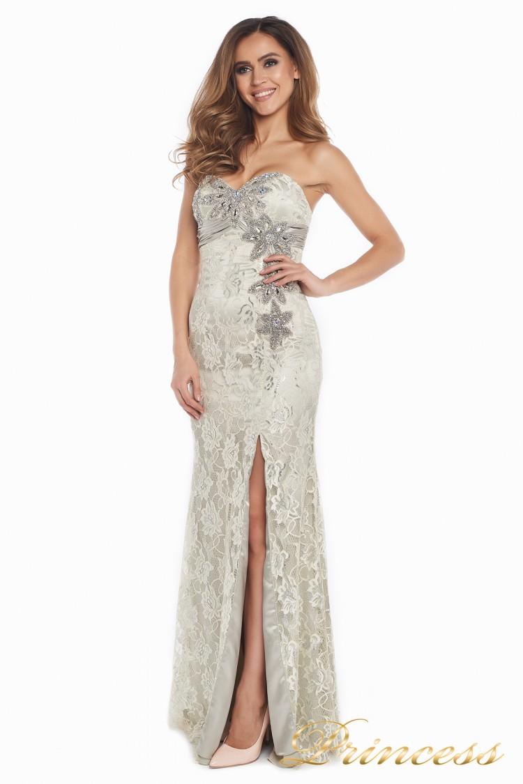 Вечернее платье 702 серого цвета