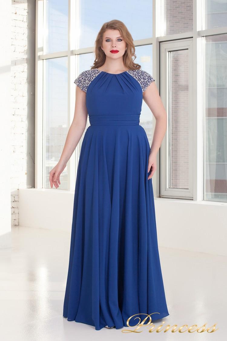 Вечернее платье 709 Royal цвета электрик