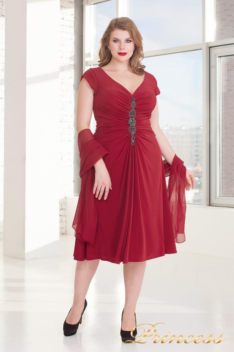Вечернее платье 720 DARK-RED красного цвета