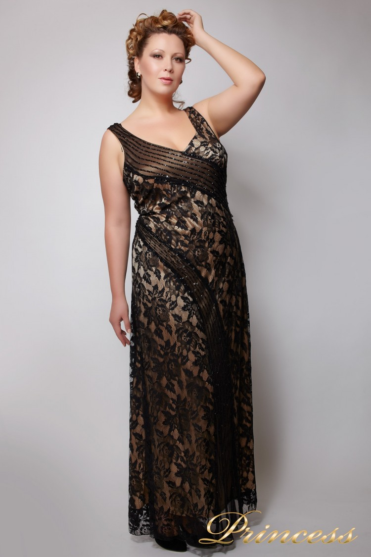 Вечернее платье 7673 чёрного цвета