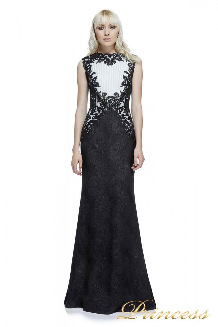 Вечернее платье AZZ15135L BK WH чёрного цвета