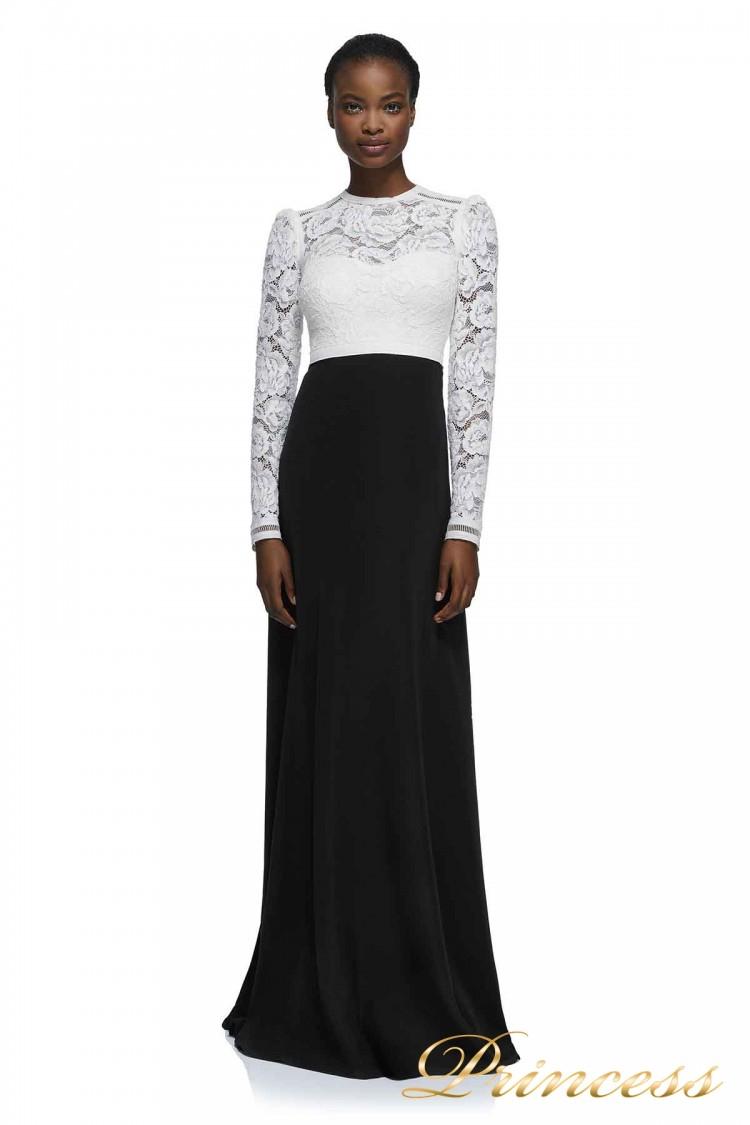 Вечернее платье AYV17723L WH BK чёрно-белого цвета
