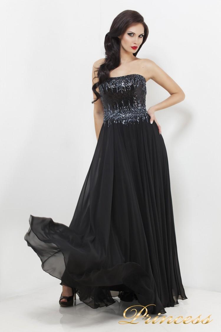 Вечернее платье 7983B чёрного цвета