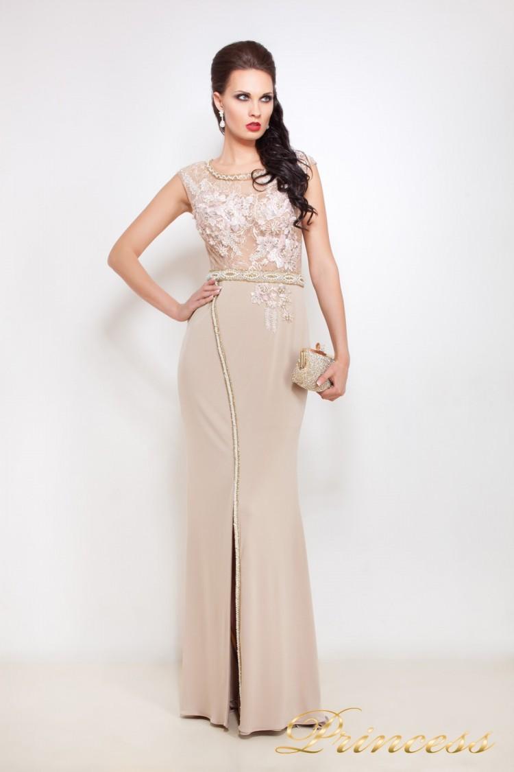 Вечернее платье 8033 цвета пудра