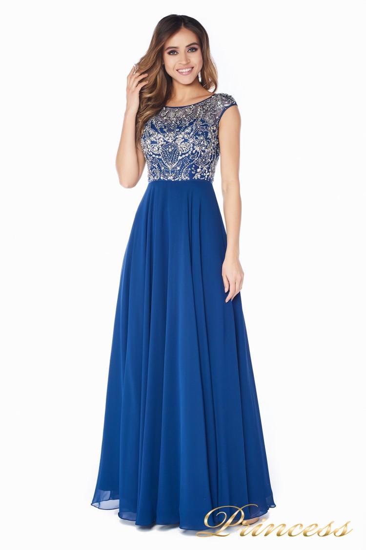 Вечернее платье  80824AN синего цвета