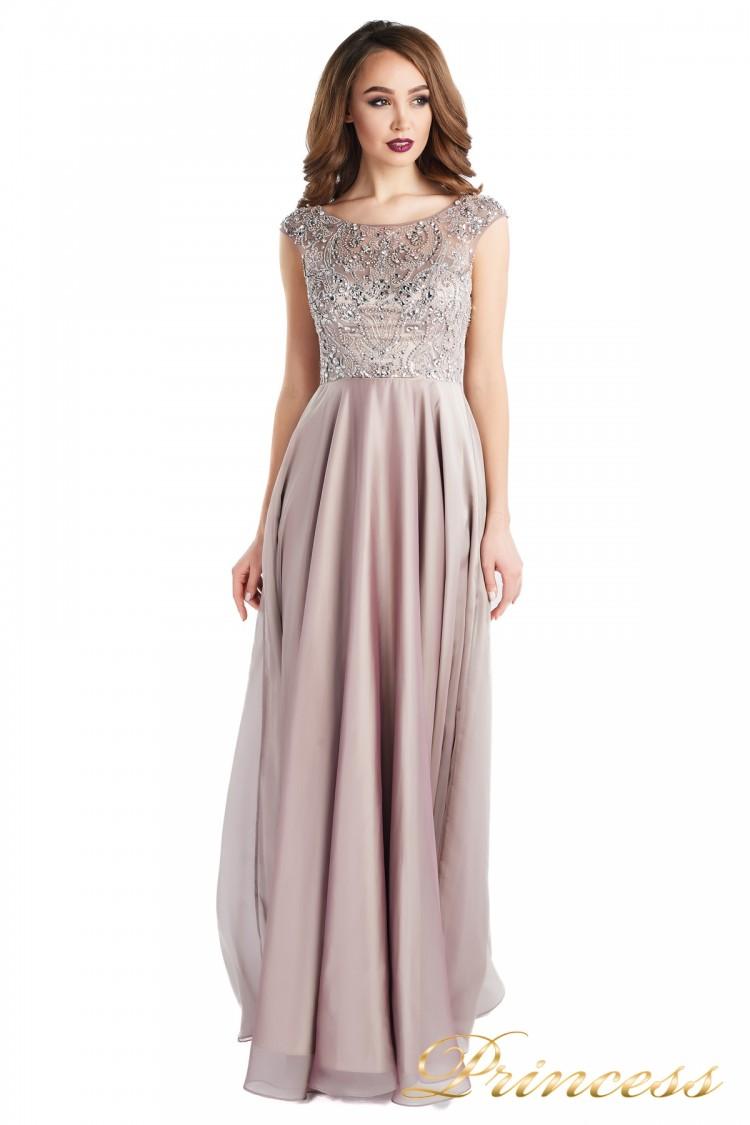 Вечернее платье 80824-186 pink цвета пудра