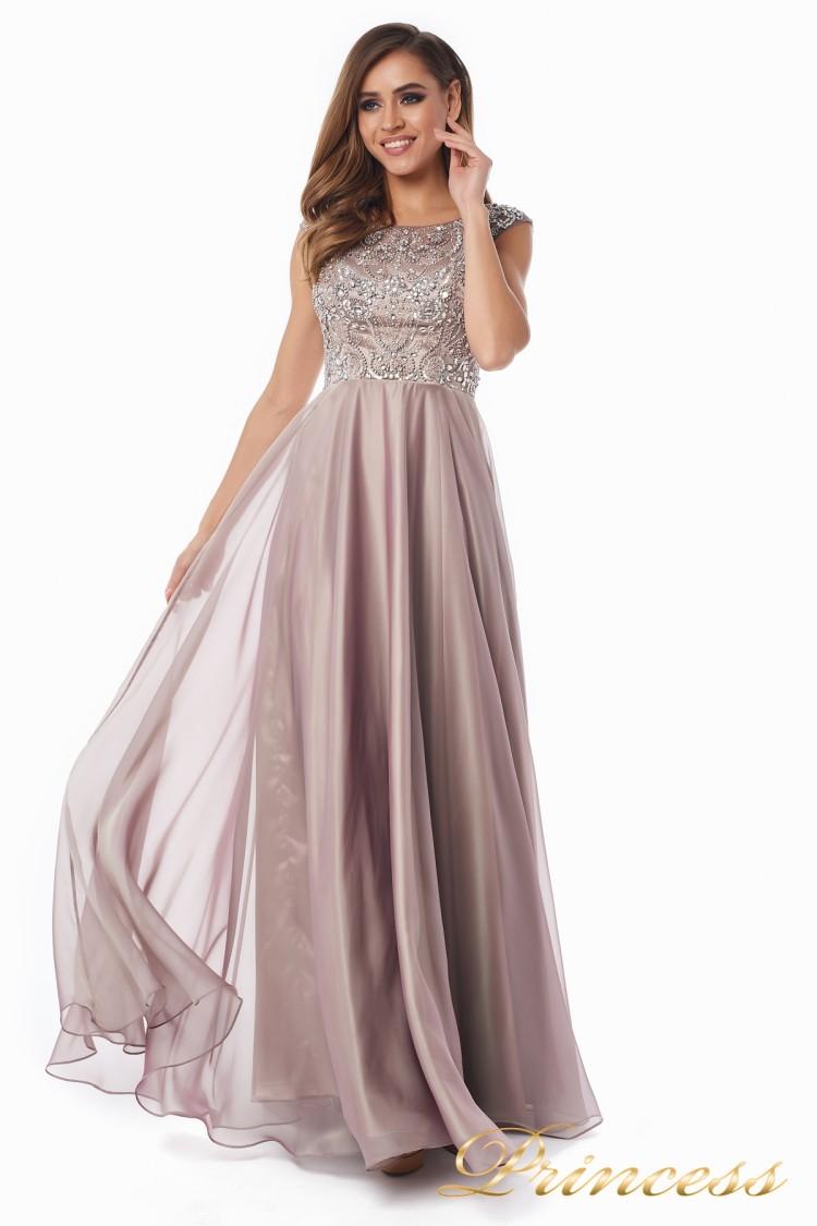 Вечернее платье 80824-186 pink розового цвета