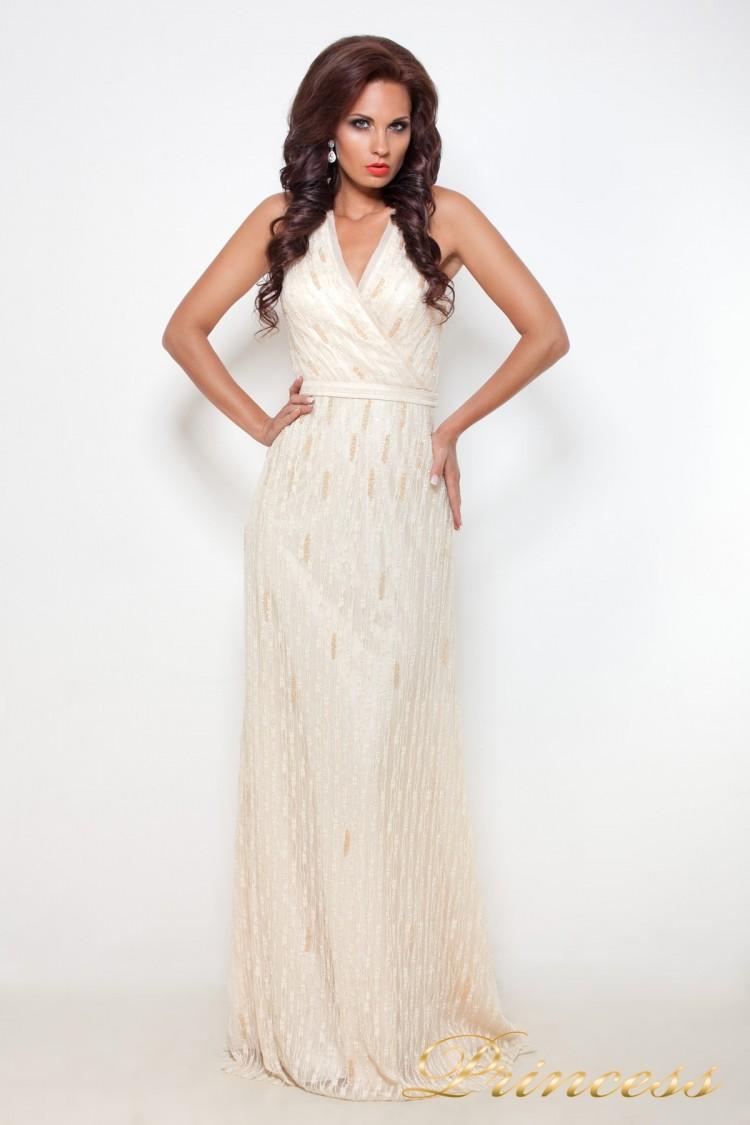 fd72fe53dbcaf05 Купить вечернее платье 8126 цвета шампань по цене 20500 руб. в ...