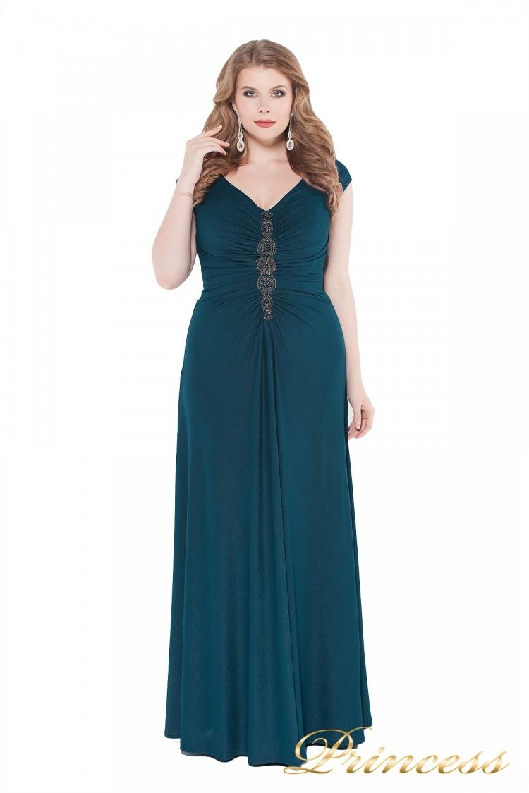 Вечернее платье 826 teal зеленого цвета