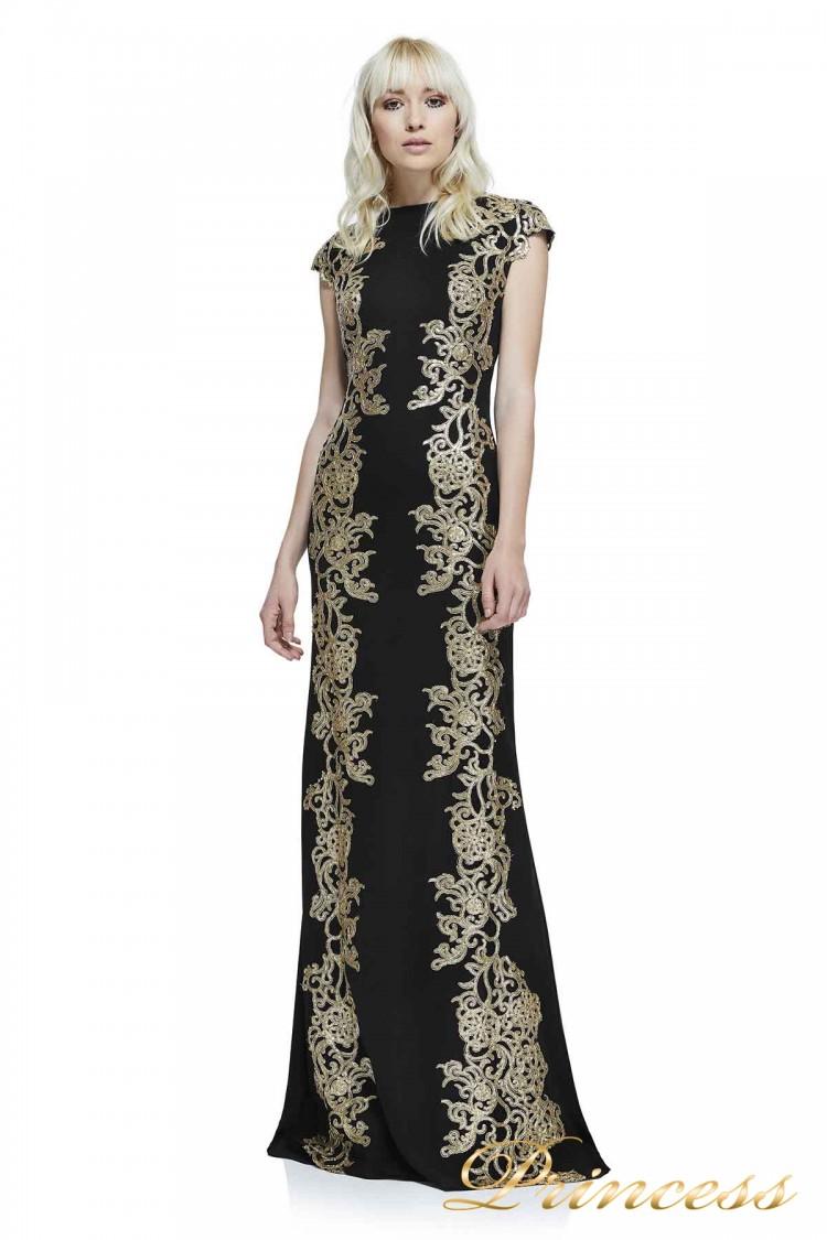 Вечерние платья AZZ1793LX BK GD чёрного цвета