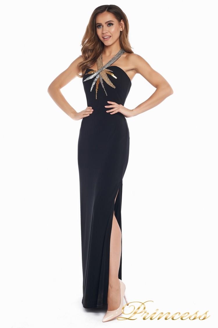 Вечернее платье 8678 чёрного цвета